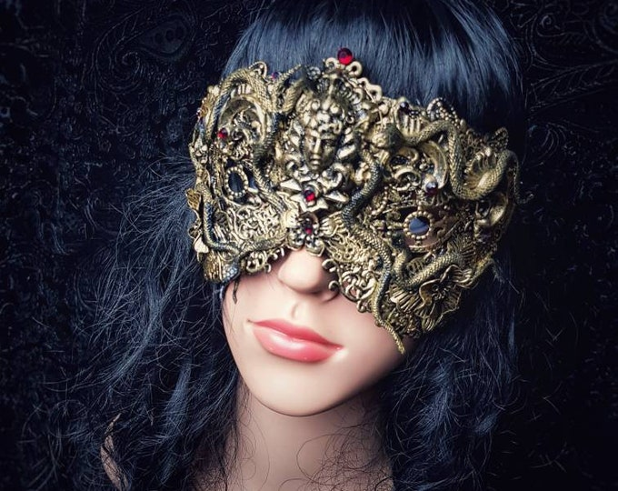 Head of Medusa mask, blind mask, medusa head, cleopatra mask, gothic Headpiece, gothic mask, medusa costume, Different styles/ Made to order