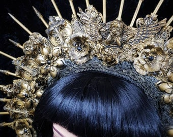"Big Angel Halo headpiece ""Holy cross"" in different colors available, large angel halo headdress /MADE TO ORDER"