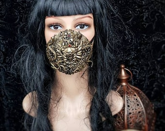 Head of Medusa Jaw mask, mouth mask, mouth patch, gothic mask, blind mask, medusa costume, snake mask in different colors / Made to order
