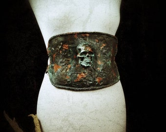Skull Corset Belt Pagan, available in different colours//skull corset belt, available in different colors/MADE TO ORDER