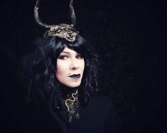 "Metal Fascinator ""Devil horns"", Metal Headpiece Devil's Horns /Made to Order in different colors"