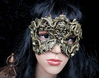 Small Medusa mask, blind mask, medusa head, cleopatra mask, gothic Headpiece, gothic mask,snakes, fantasy, Different styles/ Made to order