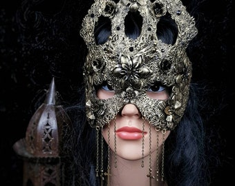 Blind mask or classic mask, Cathedral mask, sacral mask, gothic crown, available in different colors, MADE TO ORDER