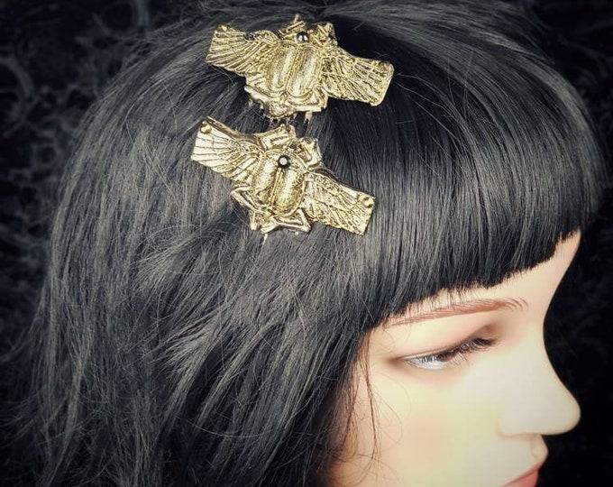 Scarab hair comb,hair pin, medusa costume, gothic headpiece, medusa hair clip, goth crown, fantasy costume, cosplay / Made to order