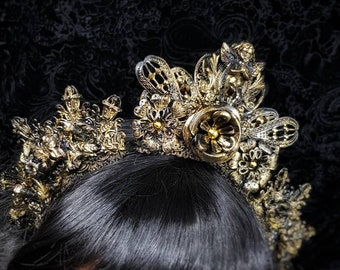 "Gothic headpiece "" Holy Angels"" Headpiece, Gothic crown, holy crown, available in different colors, Made to order"