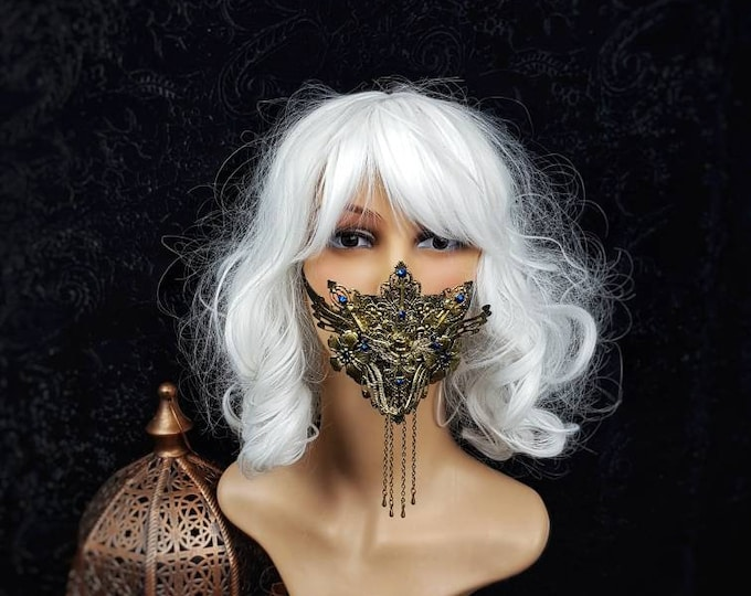 Angel Jaw mask, mouth mask, mouth patch, gothic mask, gothic headpiece, blind mask, baroque mask, goth crown, gothic / Made to order