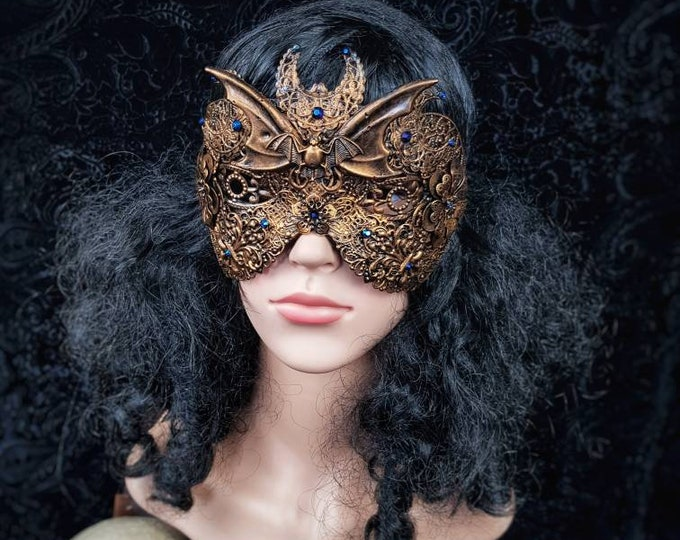 Blind mask Vampire , gothic crown, bat mask, gothic headpiece, fantasy, cosplay,  medusa costume, goth crown, witch / MADE TO ORDER