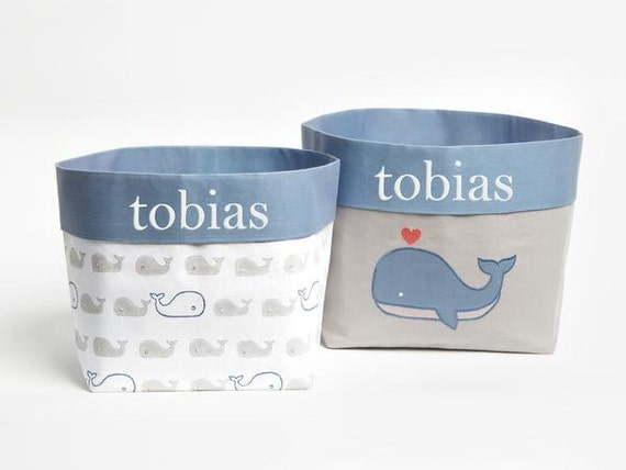Mama Whale Fabric Storage Baskets Nursery Storage Baskets | Etsy