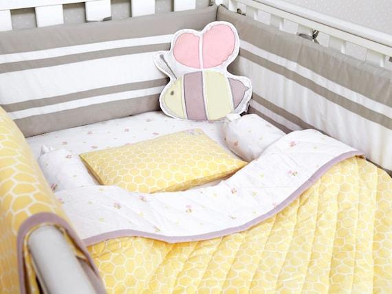 Buzzing Bee Organic Crib Bedding Set Baby Bedding Set Baby
