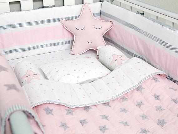 Rosa Stern Bio Kinderbett Baby Bettwäsche Set Etsy