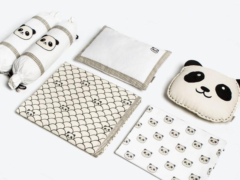 3c7370ce88c6 Modern Panda Organic Cot Bedding Set