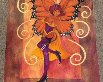 "I Feel FABULOUS!   Original Watercolor Painting 11""x15"""