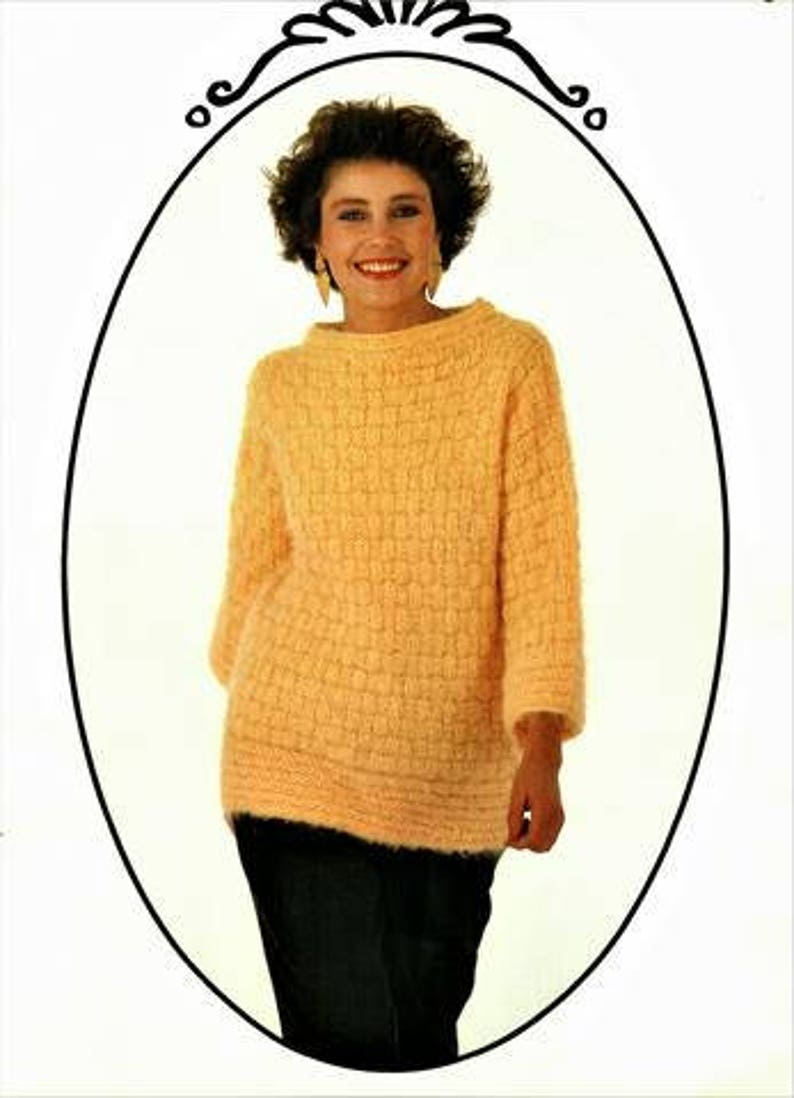 f5bee7627 Ladies Boat Neck Jumper Knitting Pattern instant download