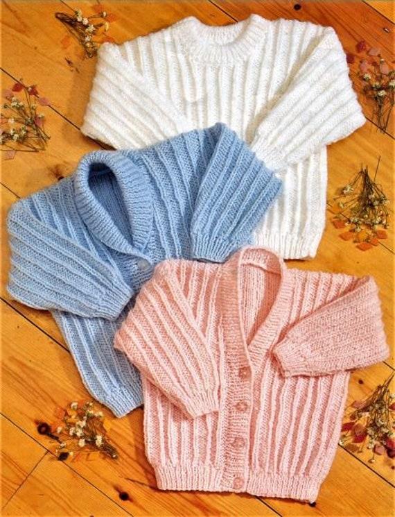 "NO 79 BABY  BOBBLE CARDIGANS /& JUMPER  Knitting Pattern DK 16-22 /"" CHEST"