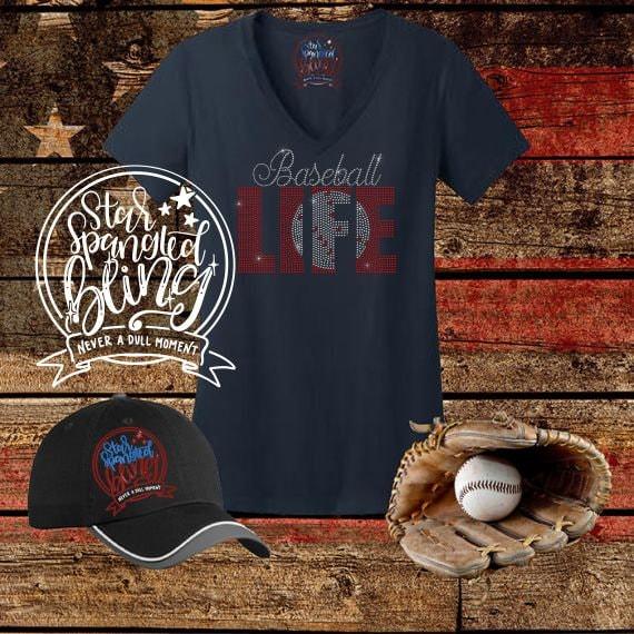 9ec6049ca Baseball Life Spangle Bling Rhinestone Style T Shirt,Softball Life Bling  Tshirt,Sports Mom Bling,Softball Fan Bling Shirt,Softball Life Tee