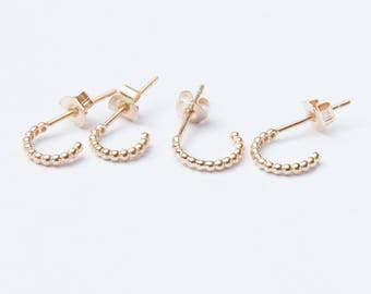 844bcb6aa 9ct gold - hoops - stud earrings - small gold earrings - gold - gold hoops  - dot earrings - gold stud earrings - gold studs - I3-SF8100/8101