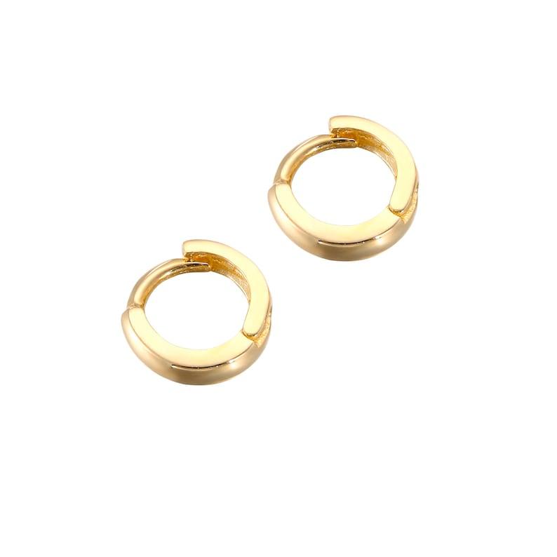 gold hoop earrings gold hoop tiny gold hoops gold I3HU-1787 tiny gold hoop earring gold earrings gold earring 9ct gold 6mm