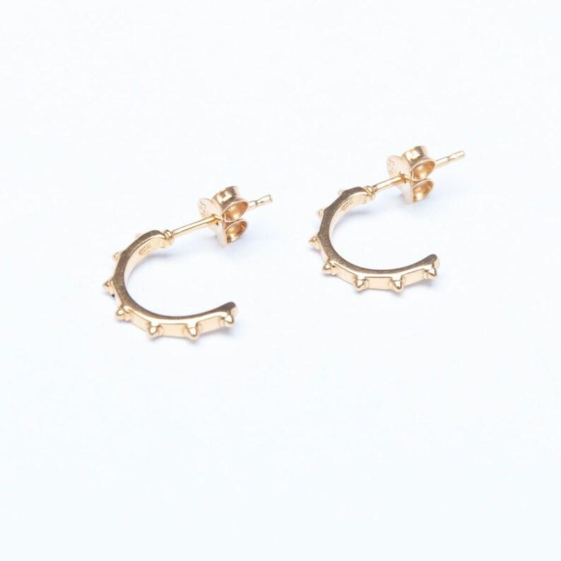 388689f13 Tiny spike half hoop earrings stud earrings tiny stud | Etsy