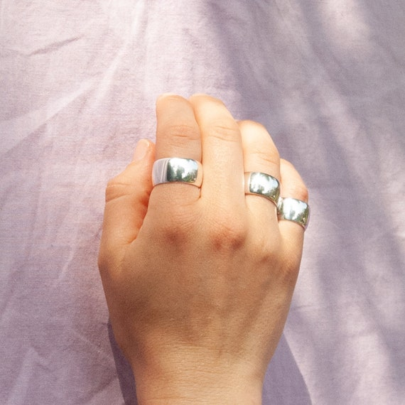 Klobige Ring Ringe Silber Ring Dicker Ring Signet Ring Etsy