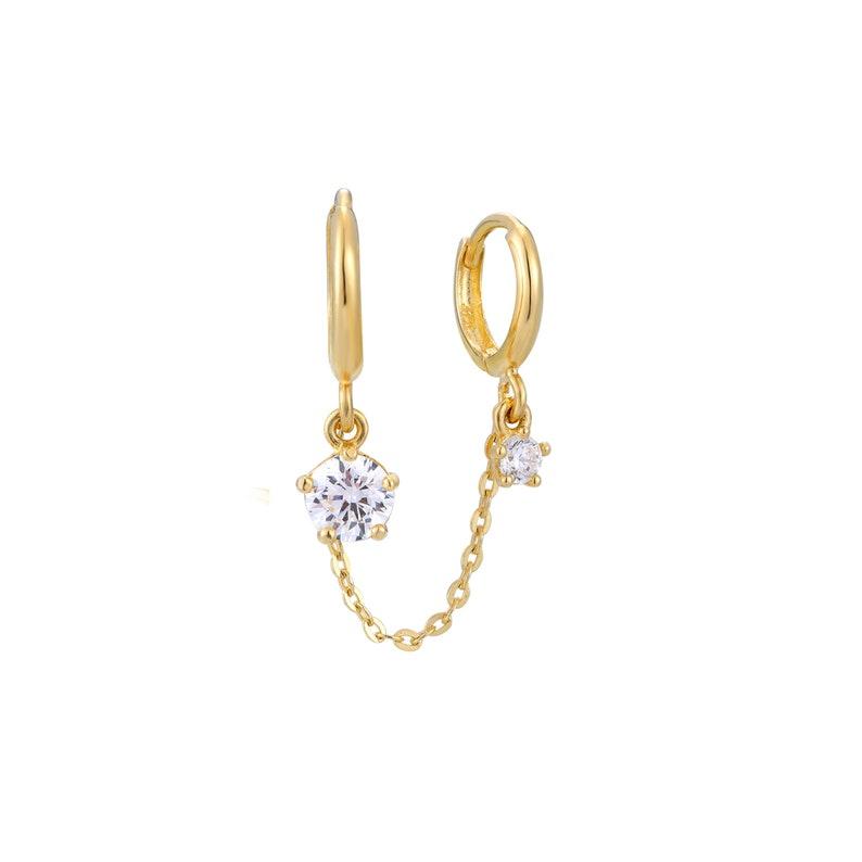 silver hoops huggies gold hoops hoop -I3HU-2478 9ct gold hoops gold hoop earring tiny hoop earrings cz tiny hoop 9ct gold