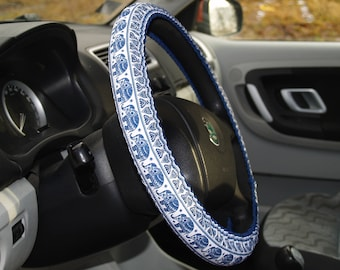 Steering wheel cover Elephants Birthday gift Car accessories Gift for woman Gift for mom Elephant gifts Mindfulness gift Girlfriend gift Car