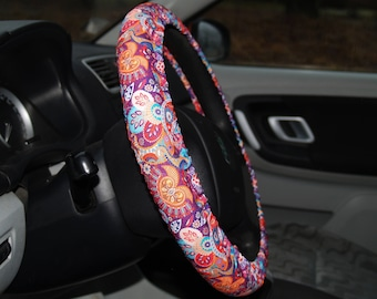 Floral Steering wheel cover Car accessory for woman Cool gift for her Cute car decoration Flowery car accessories Flowers car decor Wheel
