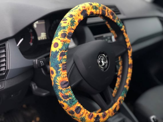 Fine Set Of Car Accessories Sunflowers Steering Wheel Cover Seat Belt Covers Andrewgaddart Wooden Chair Designs For Living Room Andrewgaddartcom