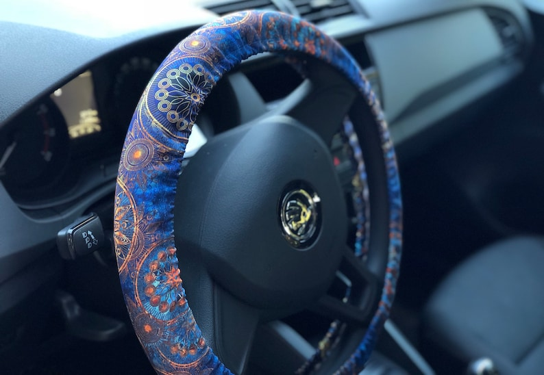 Mandala steering wheel cover Car accessory Birthday gift Car decorations  for man Car accessories for woman Accessories set Wheel covers