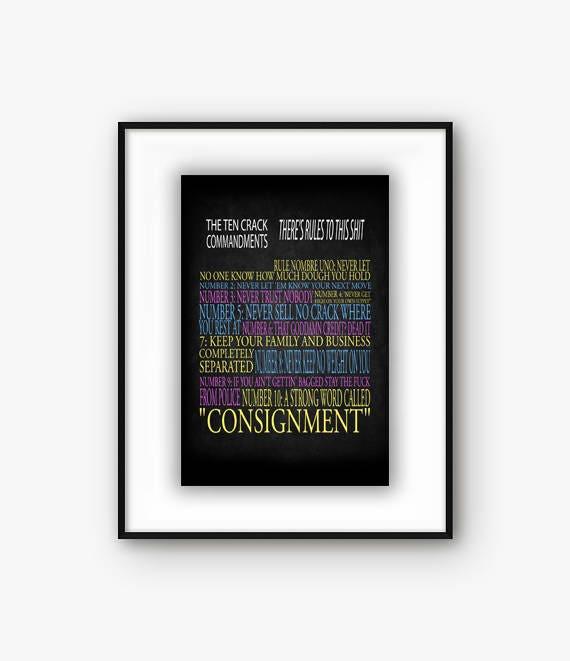 Biggie's Ten Crack Commandments Print