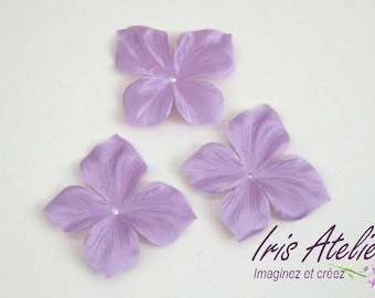 1 Fleur individually purple Silk Satin