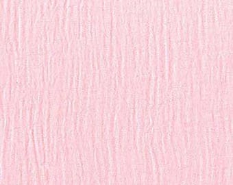 "SALE Gauze Cotton fabric. Michael Miller. Bubble gauze from the Sommer Collection 48"" solid pink shirts swaddles sewing"