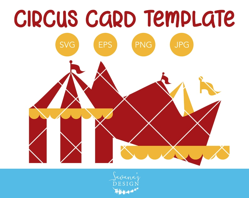 Circus Tent Invitation Template SVG Card Birthday Party Svg