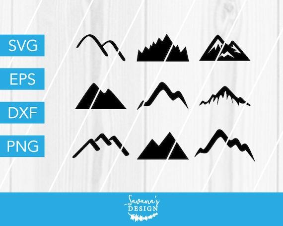 Mountains Svg Mountains Dxf Mountain Svg Mountain Cut File Etsy