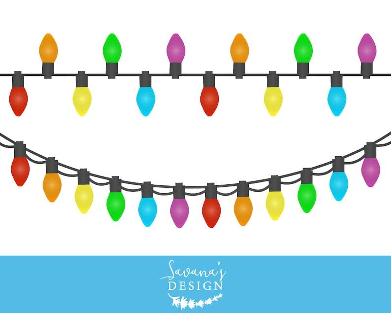Christmas lights clipart Christmas lights clip art String ...