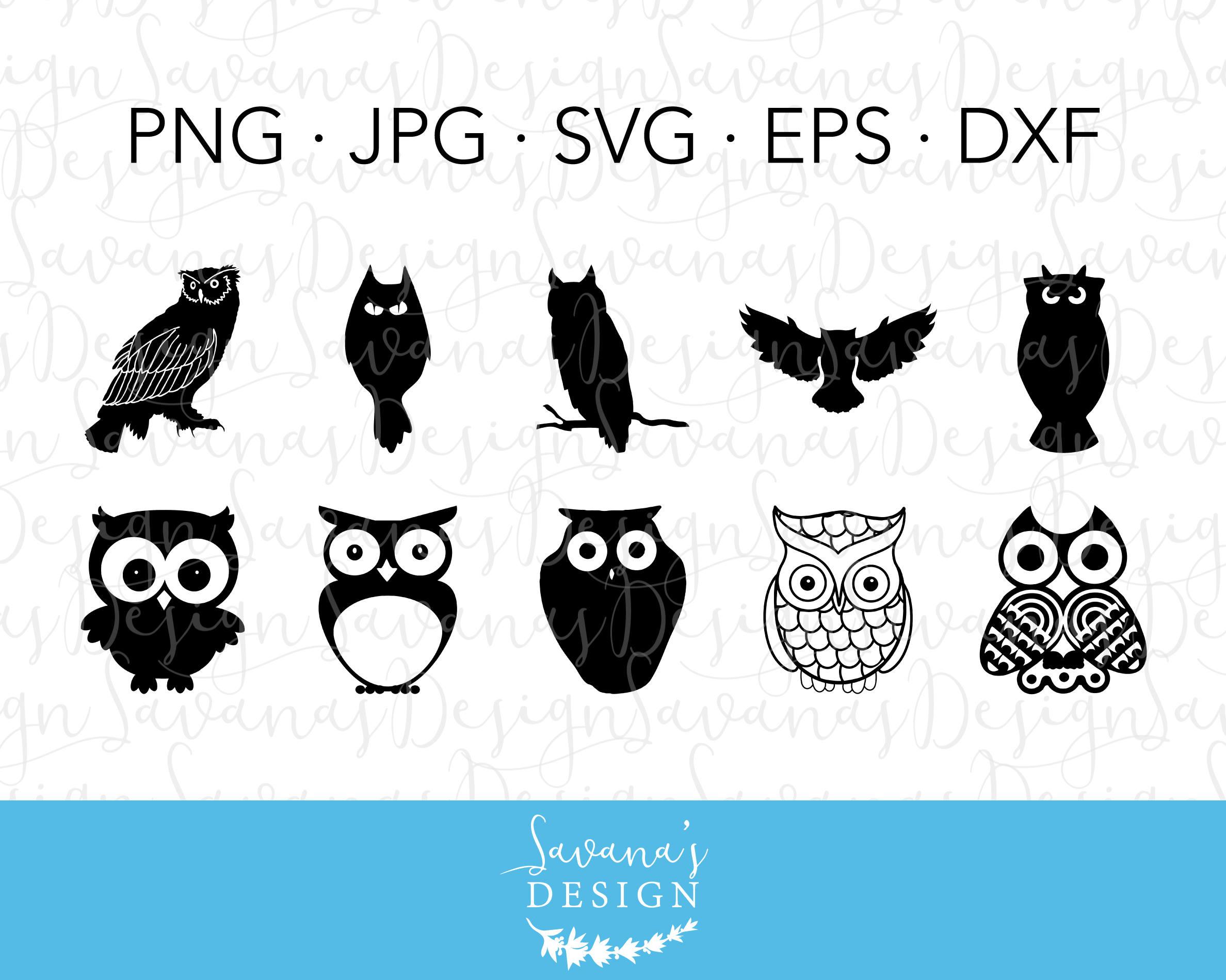 SVG Owl Owl Silhouette SVG Silhouette Owl Halloween Owl | Etsy