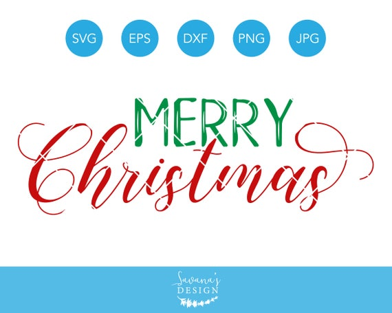 Get Merry Christmas, Svg, Dxf, Cut File PNG