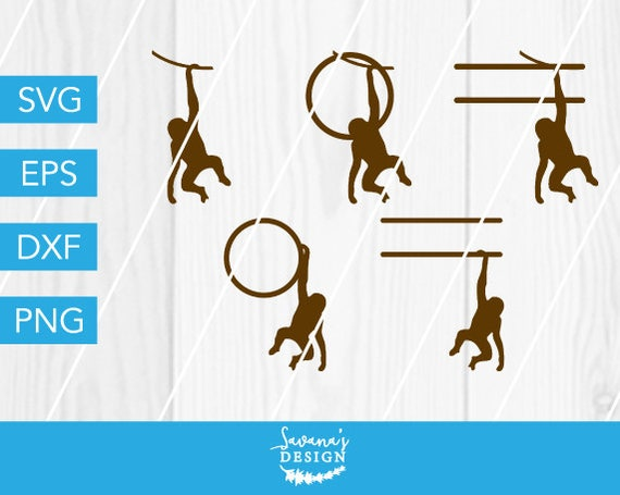 Monkey Svg Monkey Monogram Svg Monogram Svg Monkey Dxf Monkey Cut File Round Monogram Svg Split Monogram Svg Hanging Monkey Svg Svg By Savanasdesign Catch My Party