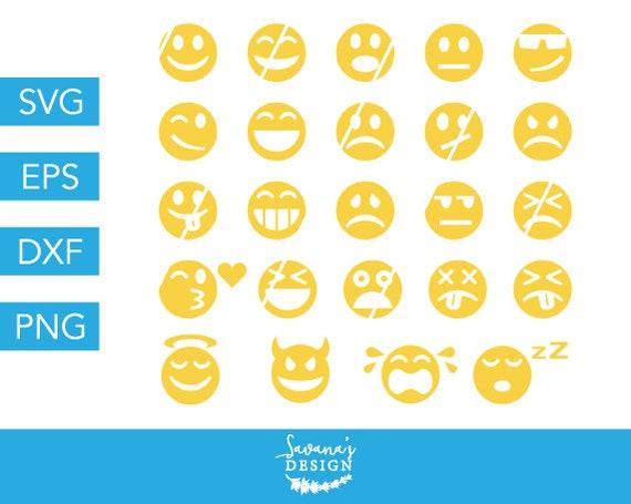 Emojis SVG, Emoji SVG, Smiley Face SVG, Social Media Svg