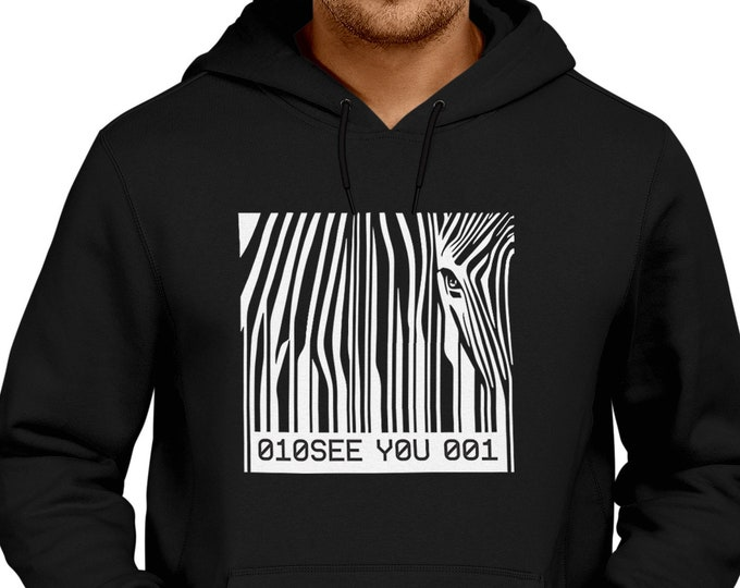 Barcode Zebra hoodie