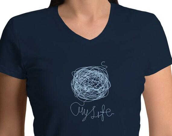 My Life V-neck T-shirt for Women