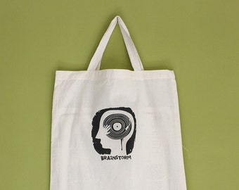 Brainstorm Tote Bag, Short Handles