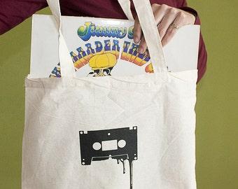 Cassette Tote Bag, Long Handles