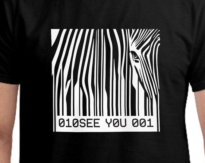 Barcode Zebra T-Shirt, Unisex
