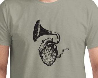 Music Heart T-Shirt, Unisex