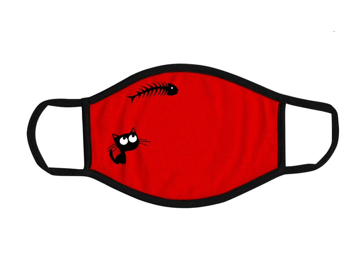 Catfish Kids Face Mask, Reusable cotton and polyester, 2 layers, Comfortable fit, Durable, Breathable, Washable