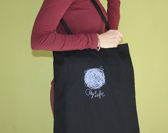 My Life Tote Bag, Long Handles