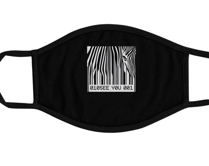 Barcode Zebra Face Mask, Reusable