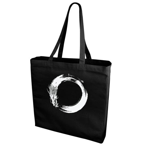 Enso Dragon Shopping/Tote Bag