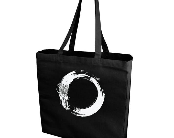 Enso Dragon Shopping/Tote Bag