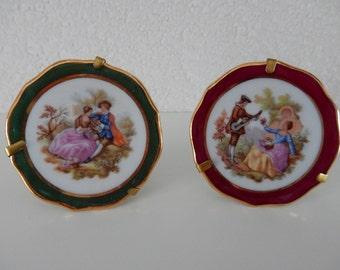 2 ornamental plates Limoges France